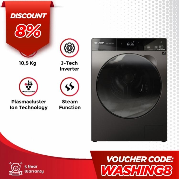 Washing Machine K-Pro Series J-TECH Inverter - 10.5Kgimage